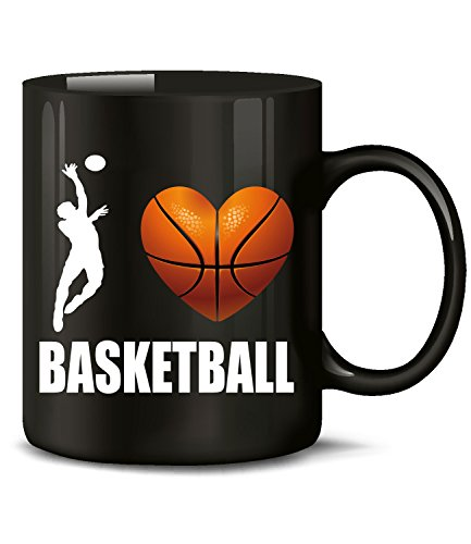 Golebros I Love Basketball Fan Fanartikel Tasse Becher Kaffeetasse Kaffeebecher Artikel Geschenke Geburtstag Geschenkidee Geschenkartikel