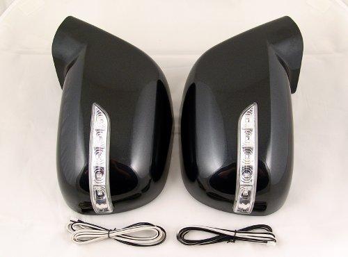 Zubehör für Chevrolet Orlando Spiegelgehäuse mit LED Blinker Schwarz (GAR) Spiegel Tuning Gehäuse Mirror