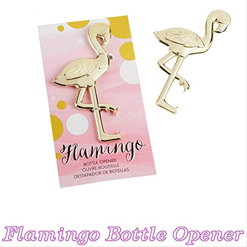 WSJDE Gastgeschenke Baby Dusche Metall Gold Flamingo Flasche Hochzeitsdekoration Halloween Wein Bier Opener Hochzeit S Für Gäste, Q
