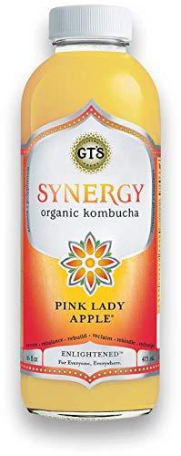 LUV BOX-GT's Organic & Raw Kombucha, Pink Lady Apple ,Enlightened Synergy,16 fl oz.,12 pk.