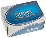 Image: Alliance Sterling Ergonomically Correct Rubber Bands, No. 64, 0.25 x 3.5 Inches, 425 Approx per 1 lb Box (24645)