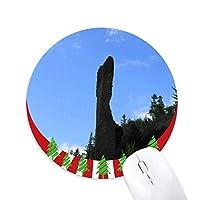 天然石柱 円形滑りゴムのマウスパッドクリスマス飾り