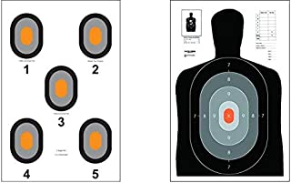 Action Target - B-27E Pros - 530-OC Paper Target - 100 Pack (50 of Each Target, 100 Total) - Paper Targets, Shooting Targets …