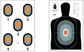 Action Target - B-27E Pros - 530-OC Paper Target - 100 Pack  50 of Each Target 100 Total  - Paper Targets Shooting Targets …