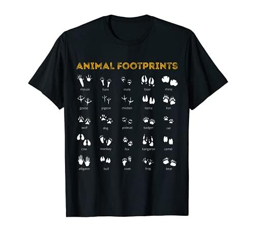 Huellas de animales - Veterinario Zoólogos de animales Camiseta