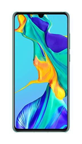 Huawei P30 Smartphone débloqué 4G (6,1 pouces - 6/128Go - Double Nano SIM - Android 9.1) Bleu aurora [Offre sans bon d'achat]