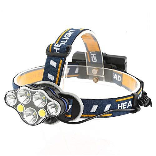 T6 de alta intensidad proyector LED cabezal de la antorcha recargable del USB del faro del faro USB recargable de la cabeza corriente de la antorcha para Camping Pesca de reparación de coches al aire