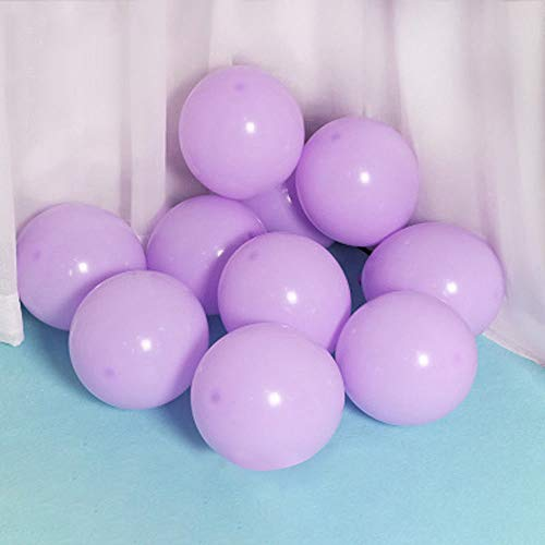 100 Pack 10 Inch Lavender Pearl Balloons,Large Marcaron Purple Latex Helium Balloons for Birthday Wedding Reception Engagement Baby Bridal Shower Party Decorations Supplies