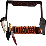 Placa de matrícula personalizada de Halloween Michael, decoración de Halloween para amantes del terror personalizada, adecuada para amantes del terror
