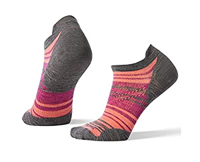 Smartwool PhD Outdoor Light Micro Socks - Women's Striped Wool Performance Sock MEDIUM GRAY Medium