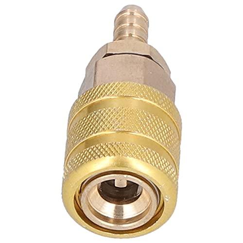Surebuy Conector de Bomba de Aire, Conector de válvula de neumático de 6,5 mm Material de Cobre a Prueba de Herrumbre Fuerte y Duradero para medir la presión de inflado