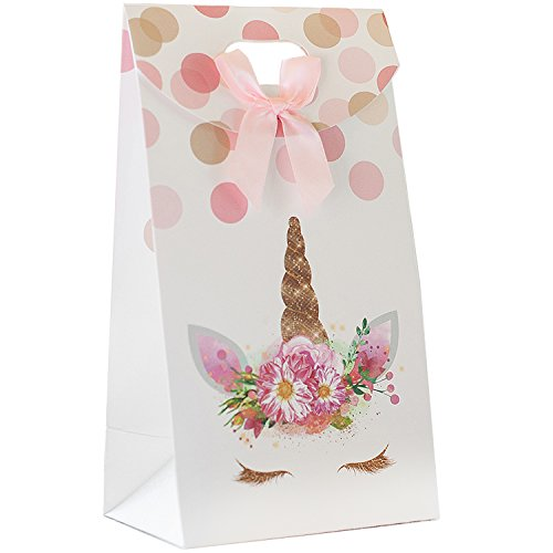 Premium Unicorn Party Favor Treat Bags, Goddie and Candy Bags, Party Supplies for 12 by Party Crush. Perfect for Birthdays and Baby Showers.