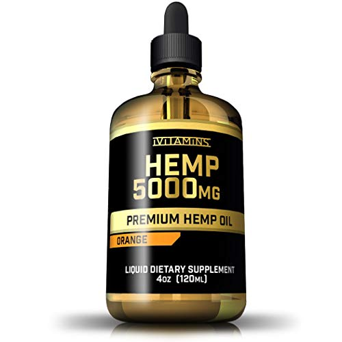 iVitamins Hemp Seed Oil Drops :: 5,000mg 4 fl oz :: Hemp Extract :: May Help with Pain, Anxiety, Inflammation, Joints, Sleep, Mood and More :: Rich in Omega 3,6,9