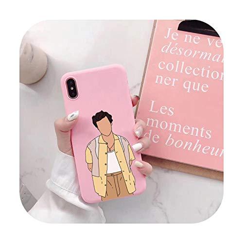 Harry Styles - Carcasa de silicona para iPhone X, XR, Xs, Max 12, 7, 8 Plus SE 2020, diseño de Harajuku