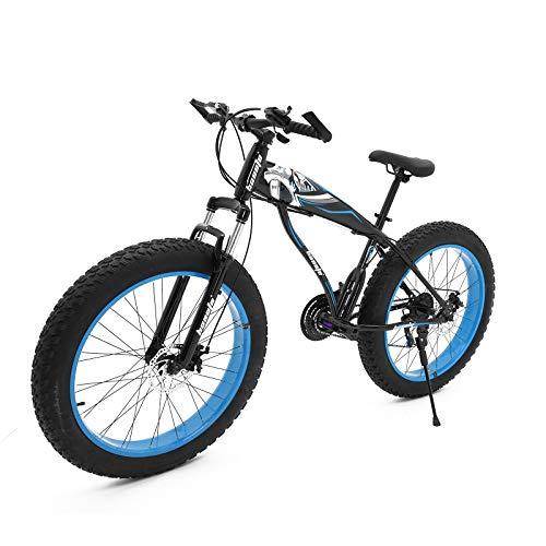 hosote Fat Tire Mens Mountain Bikes, 26 inch Wheels 7/21 Speed Snow Bike Beach Bike, High-Tensile Carbon Steel Frame