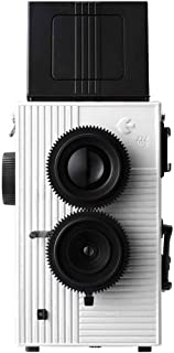Blackbird Fly 35mm TLR Twin Lens Reflex Camera - Black with White Face