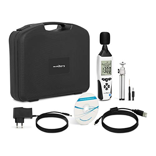 Steinberg Systems Fonometro Professionale Misuratore Rumore SBS-SM-130C (30-130 dB, USB, Batteria 9 V, 30 ore, A, C)