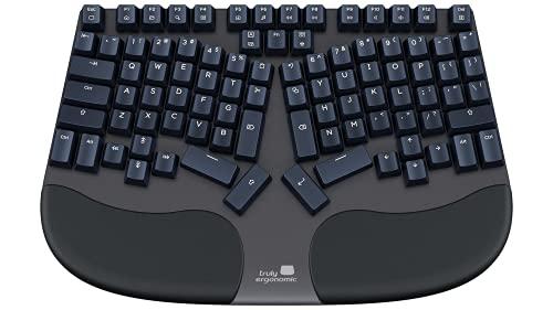 Truly Ergonomic Keyboard - Cleave - Optical Infrared Mechanical Switches Better Than Cherry MX - Best Ergo Split - Comfortable Palmrest - Backlit - TrulyErgonomic Tactile Silent Switch - Windows/Mac