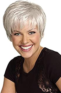 Renew Wig Color G20+ Wheat Mist - Gabor Wigs Short Classic Boy Cut Tapered Layering Personal Fit Capless Flexlite Synthetic Fiber