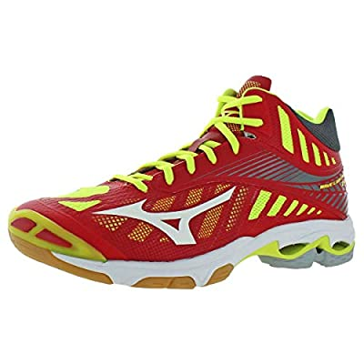 Mizuno Mens Wave Lightning Z4 Mid Lace-Up Volleyball Shoes Red 12 Medium (D)