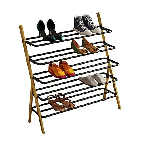 4 TIERRS Hierro Zapato Rack Nordic Simplicity Situación de pie Zapatos Estante de Almacenamiento Estante de Almacenamiento Home Organizer Accesorios Soporte de Zapatos