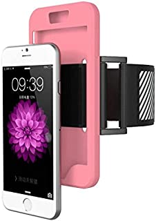 Margoun Sports Running Silicone Armband Case Cover With Reflective Easy Fit Band For Iphone 6 Plus - Pink