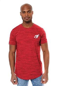 Ultra Game NFL Arizona Cardinals Mens Active Basic Space Dye Tee Shirt Space Dye Medium