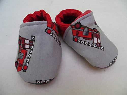 Puschen Schuhe Feuerwehr, ab Größe 16-28, Kinder Hausschuhe
