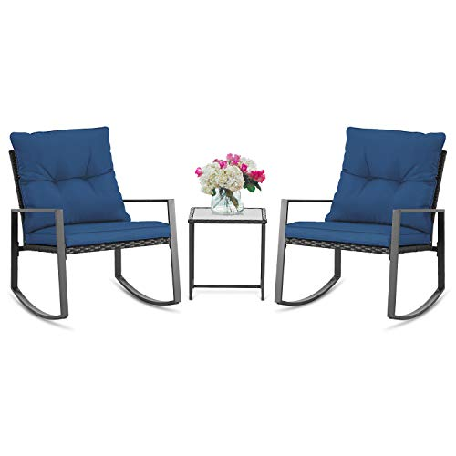 Suncrown Three Piece Rocking Patio Set