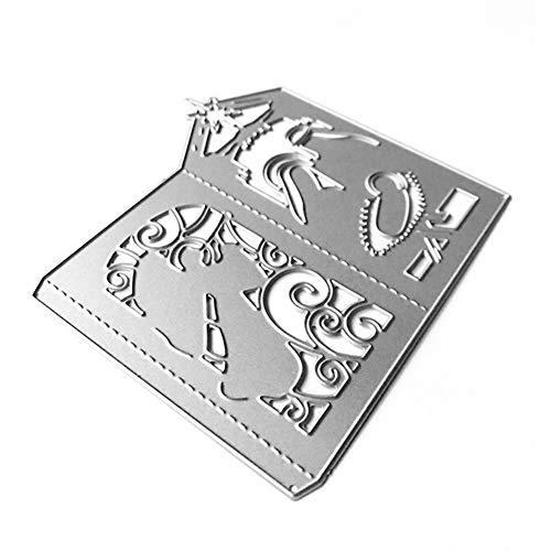zmigrapddn Stanzformen, Weihnachtsengel Design Prägewerkzeug Schablone Schablone DIY Album Papier Karte Handwerk Sterben Für Scrapbooking Kartenherstellung