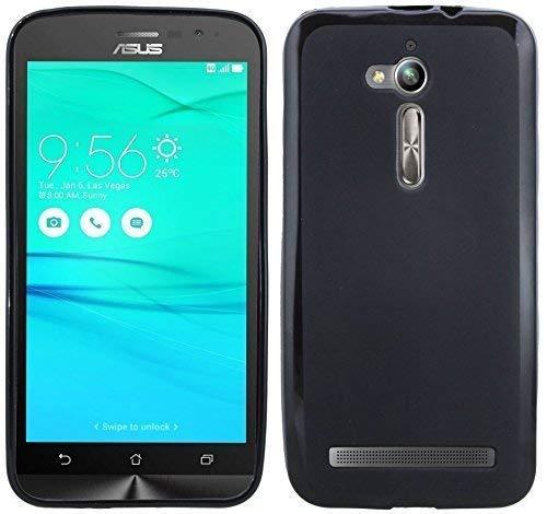ENERGMiX Silikon Hülle kompatibel mit ASUS ZenFone GO (ZB500KL) Tasche Case Zubehör Gummi Bumper Schale Schutzhülle Zubehör in Schwarz