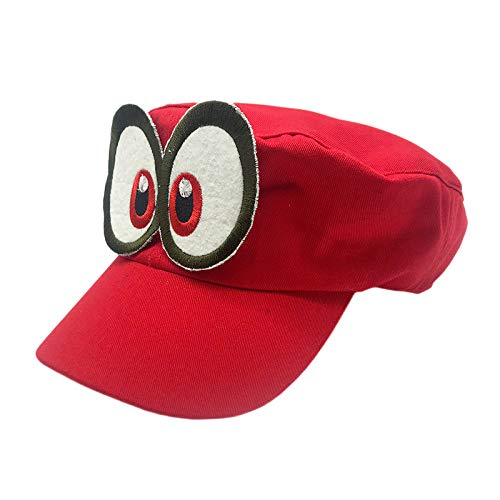 xiaochicun Nuevo Sombrero Top vacío Europa y América Visera para el Sol algodón Hombres y Mujeres Gorra de béisbol de Playa Cola de Caballo Gorra Mario Rojo