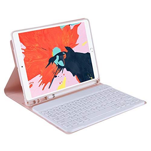 Funda Protectora de Cuero TPU para Tableta para I Pad Pro 12 9 12,9 2020 2018 3rd 4th Funda con Teclado Bluetooth con Ranura para lápiz-Rosa_iPad Mini 2345