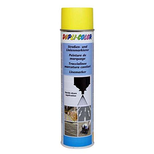 Dupli-Color 895159 Markierungsspray, 600 ml, Permanent Straßenmarkierer Gelb