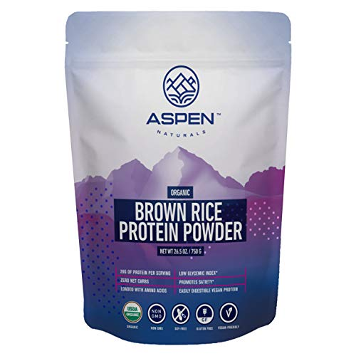 Aspen Naturals Organic Brown Rice Protein Powder - 26.5 oz, Vegan, Unflavored, Gluten Free, Non-GMO, Plant-Based. Soy Free Protein Supplement, Supports Optimal Health, Muscle Support and Recovery