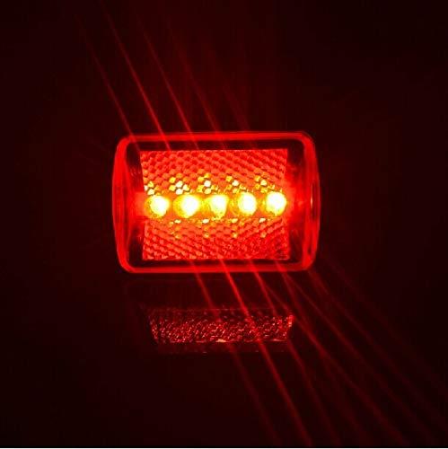 Impermeable LED lámpara bicicleta cola cabeza luz trasera seguridad linterna bicicleta bicicleta bicicleta