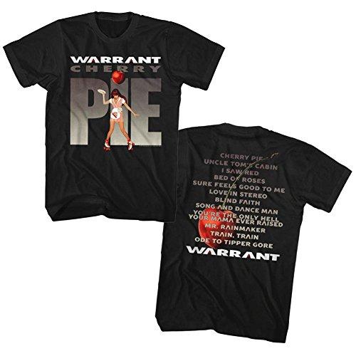 Warrant - Das Kirschkuchen-Album der Männer T-Shirt, XX-Large, Black