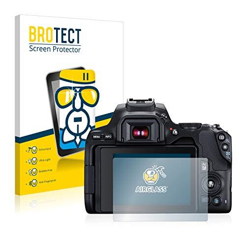 BROTECT Protector Pantalla Cristal Compatible con Canon EOS 250D Protector Pantalla Vidrio Dureza 9H AirGlass