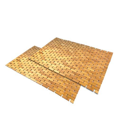 SudoreWell® Wellness Badematte Saunamatte aus Bambus 80 x 50 cm - 2 Stück