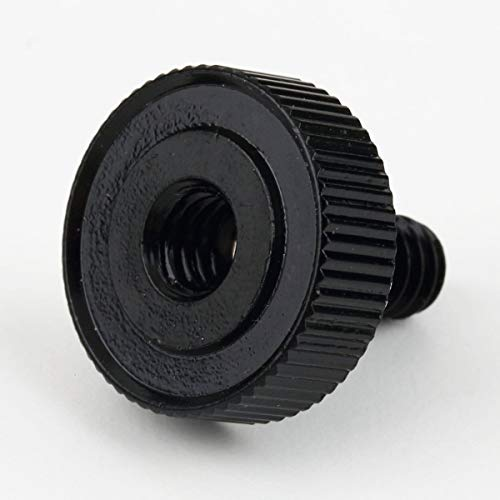 Kurz Schuh 1/4 Schrauben-Adapter für Stativ für Kamera/Stativ/Blitzschiene männlich zu weiblich Fasteners Muttern Alumium (Silber)