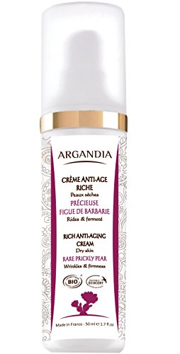 ARGANDIA Opuntia Reichhaltige Anti-Aging Creme - 50 ml, BIO zertifiziert, intensive Feuchtigkeit, harmonischer Teint - für trockene, sehr trockene, irritierte Haut