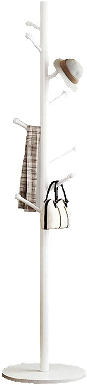 Clothes Hat Tree Coat Rack Hanging Clothes Storage Rack Metal White Black,175cm40cm40cm FENPING (color   Solid-Wood-disc-Reinforced-White)