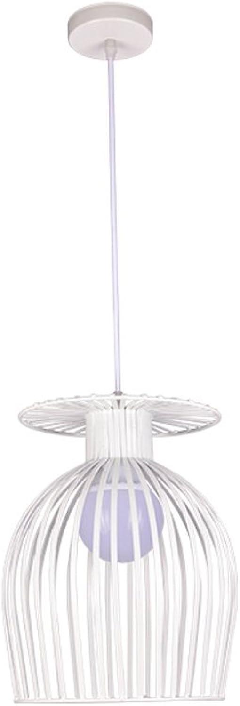 Europäische Stil Eisen Kronleuchter, Kronleuchter, Kronleuchter, kreative Vogel Käfig Bar Tisch Treppe einzigen Kronleuchter, Balkon dekorative hängende Lichter (Größe   M-Weiß) B07C24KJJ1   Qualifizierte Herstellung  b93df0