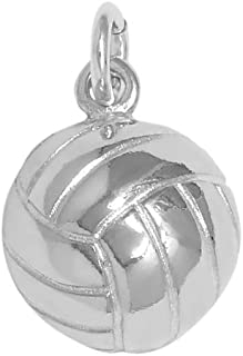 Raposa Elegance Sterling Silver Volleyball Ball Charm (approximately 11 mm x 11.5 mm)
