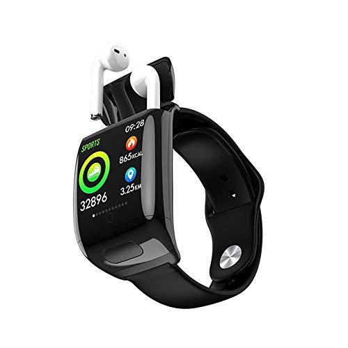 TYOP Reloj Elegante, Inteligente de 1,3 Pulgadas de Alta definición de Pantalla IPS Color, de Tipo Push Auricular Bluetooth Combo, Análisis del sueño Recordatorio de Llamada entrante de Mensajes, for