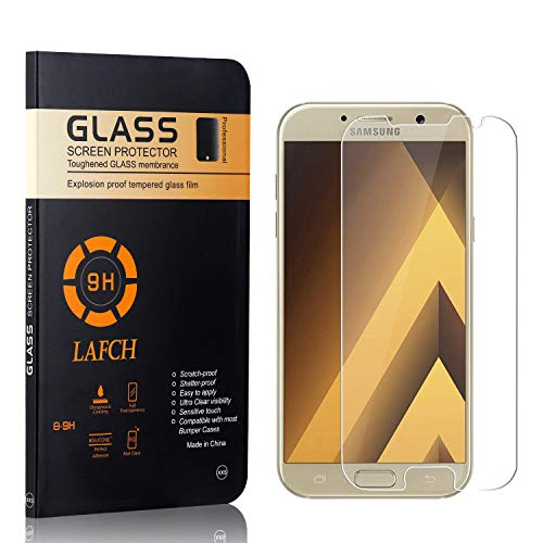 Vetro Temperato per Galaxy A3 2017, LAFCH Alta Trasparenza Pellicola Protettiva, Resistente ai Graffi Vetro Temperato per Samsung Galaxy A3 2017, 2 Pezzi