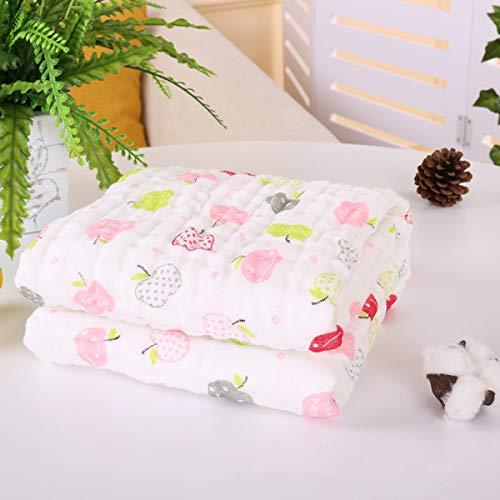 Crystallly Baby Wol Deken 9 Lagen Baby Katoen Gaas Badhanddoek Eenvoudige Stijl Quilt Bedekt Wasbare Zachte Huidverzorging Baby A 43.3 * 43.3In