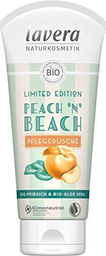 Lavera Peach 'n' Beach douche, met biologische perzik en biologische aloë vera, natuurlijke cosmetica, veganistisch, gecertificeerd, 200 ml