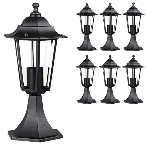 Monzana Lampioncino da terra 6 pezzi Hazel lampada da esterno luce da giardino percorso vialetto