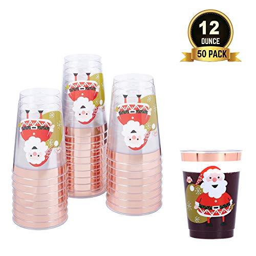 TOROTON 50 Copas de Plástico, 350ml Tazas para Bebida Transparente Reutilizables, para...